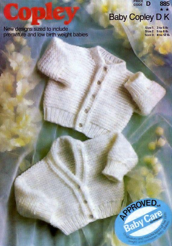 d0f6209ba1e2 Baby -Easy knit DK8ply cardigans 13-17ins - Copley 885 - pdf of ...