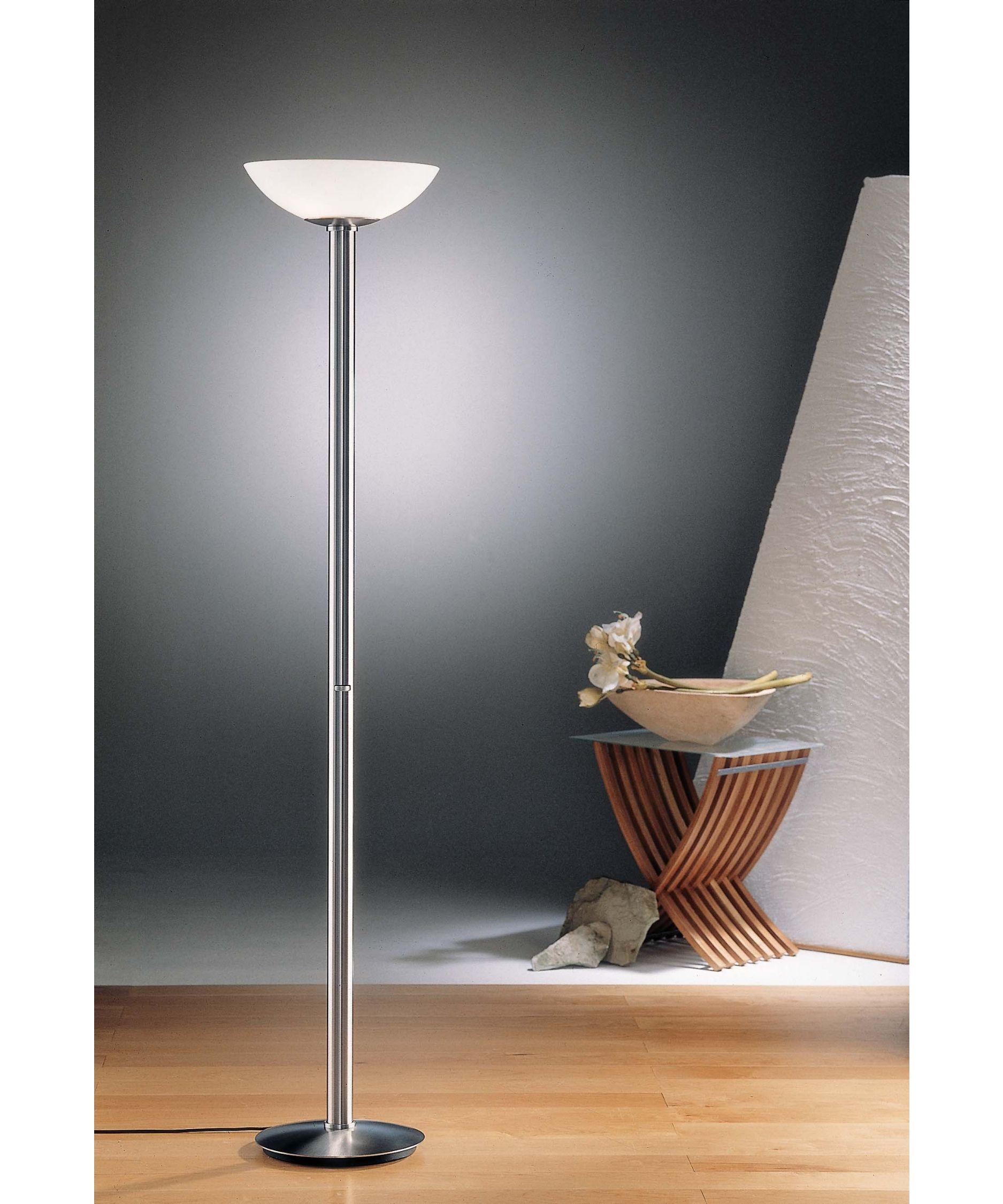 Halogen Uplighter Floor Lamp With Dimmer