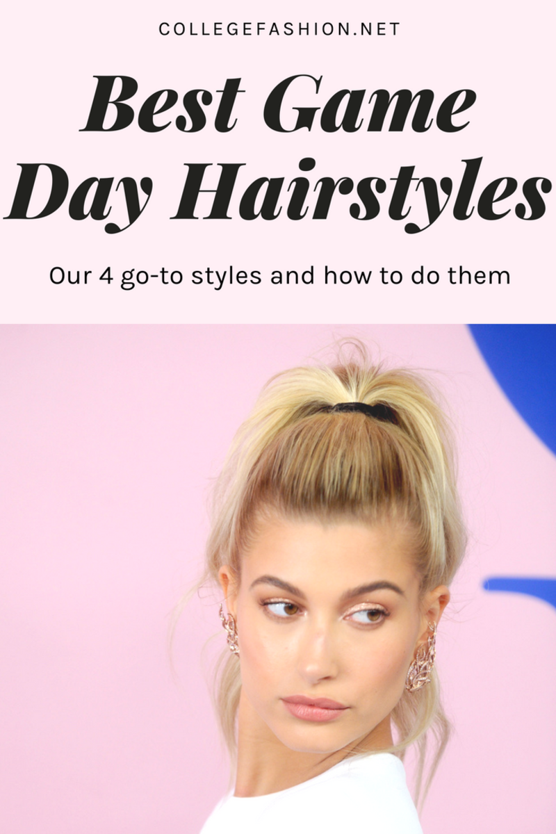 4 classic game day hairstyles & how to get them | beauty