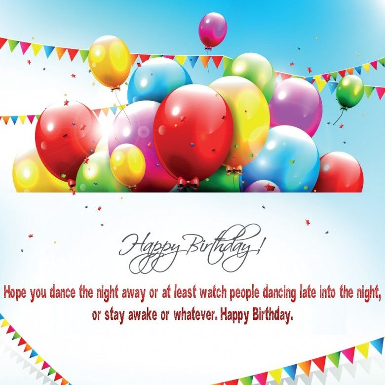 Free Greeting Cards Happy Birthday Balloons with Quotes – Happy Birthday Card Message
