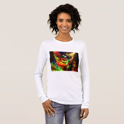 Abstract Women Long Sleeve T-Shirt - cyo diy customize unique design gift idea