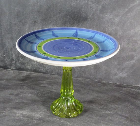 Appetizer Plate Stand Cupcake Pedestal by DancingDishAndDecor & Appetizer Plate Stand Cupcake Pedestal by DancingDishAndDecor ...