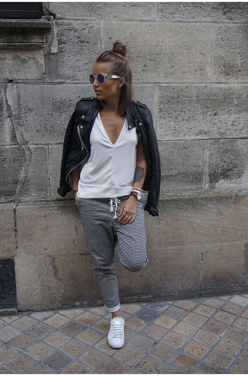 60 39 look pantalon carreaux street styles and ootd for Pantalon a carreaux