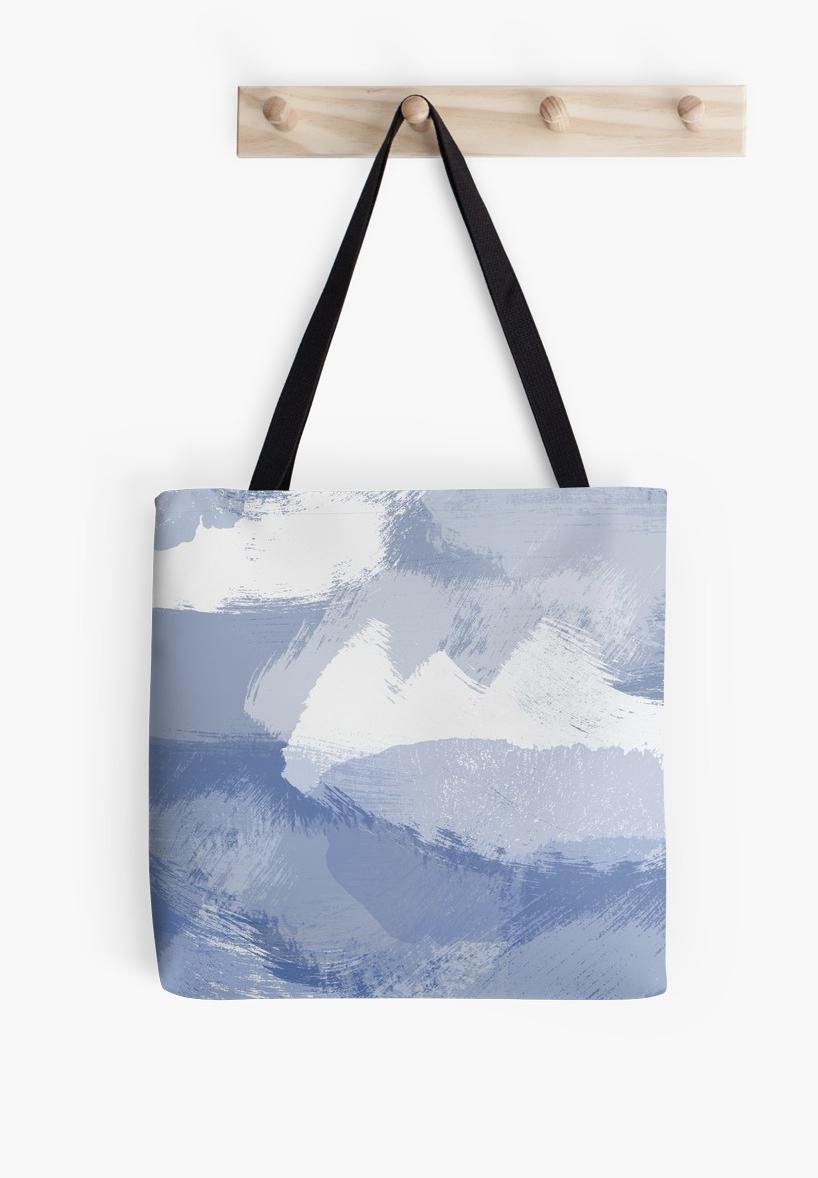 Blue Paint Pattern Tote Bag By Daruchan Tote Bag Pattern Tote Bag Bags