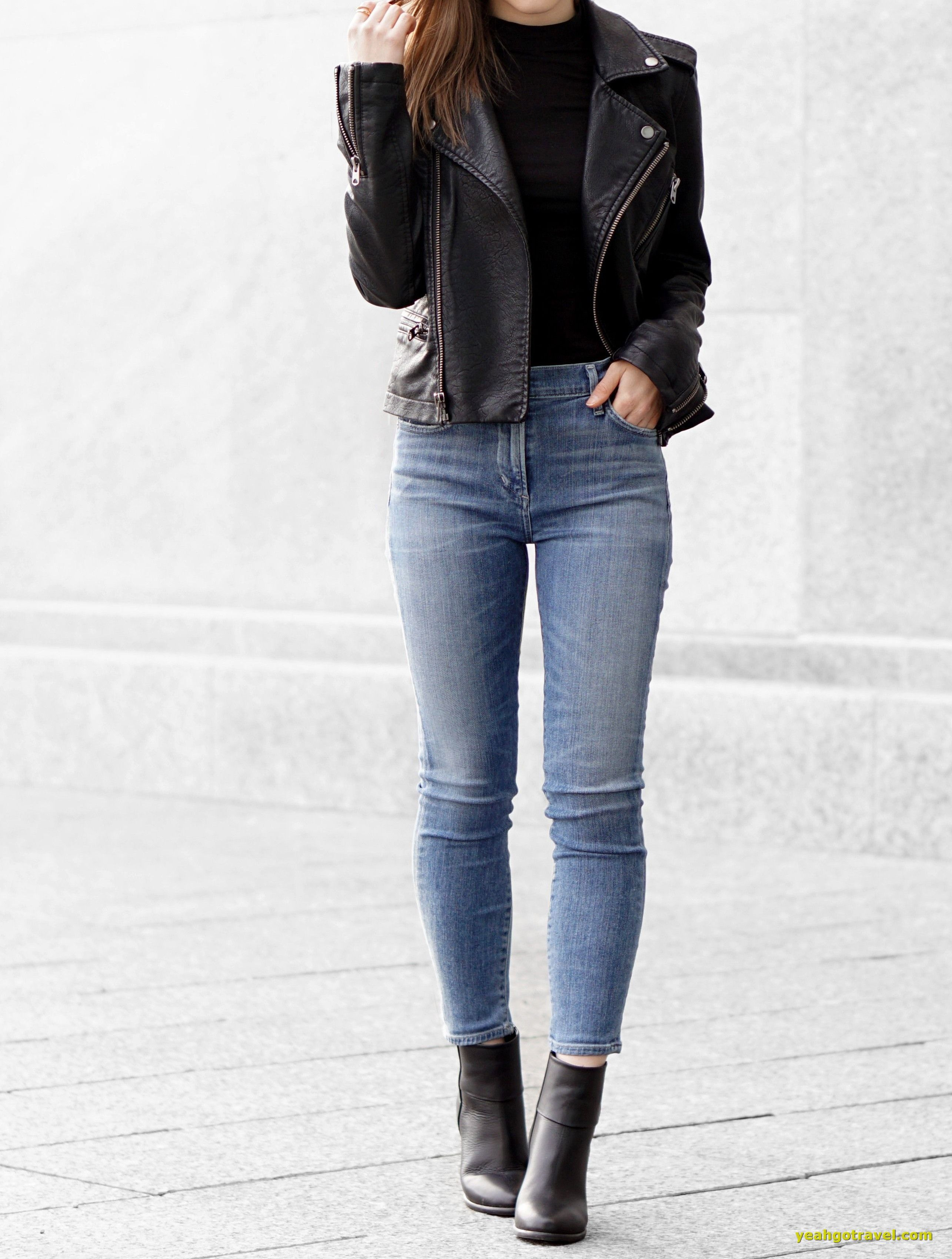 36 Women Winter Street Styles Outfits With Jackets Yeahgotravel Com Street Style Outfits Winter Fashion Leather Jacket Outfits [ 3398 x 2570 Pixel ]