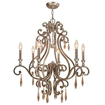 Crystorama chandelier shelby distressed twilight lighting s