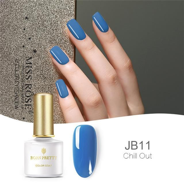 BORN PRETTY Blue Series Gel Nail Polish Pure Nail Color