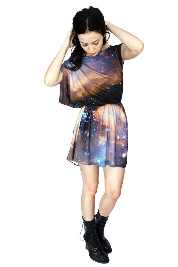 Sagan Galaxy Jersey Dress by Shadowplaynyc on Etsy, $98.00