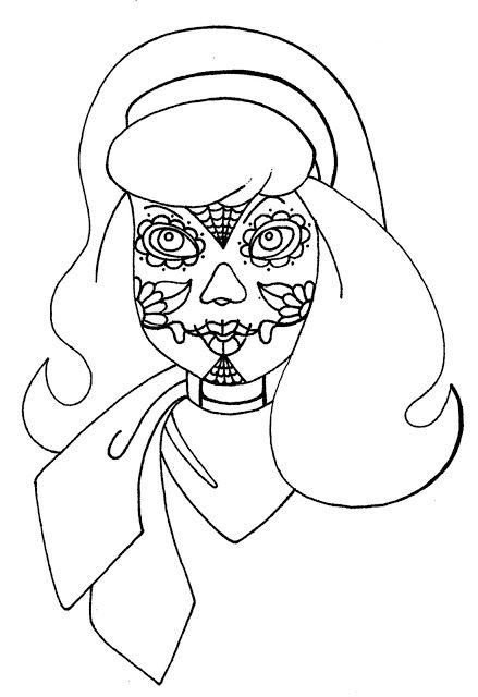 Wenchkin S Coloring Pages Dia De Los Daphne Coloring Pages