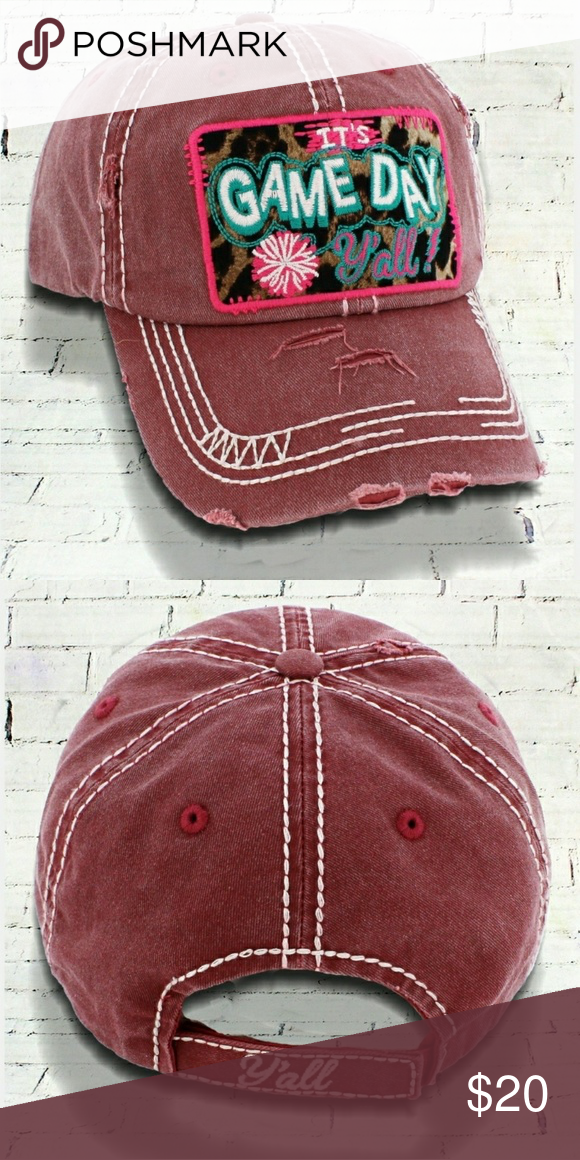It s Game Day Ya ll  Distressed Brick Cap This cap is the perfect 9ff27a58c643