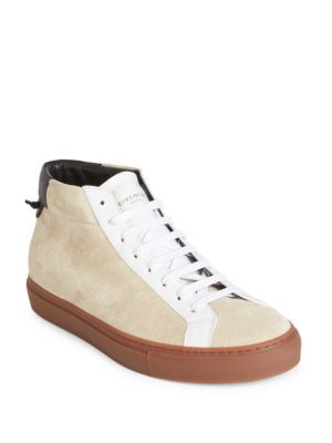 GivenchyUrban Street Leather Mid-Top Sneakers fgTolW