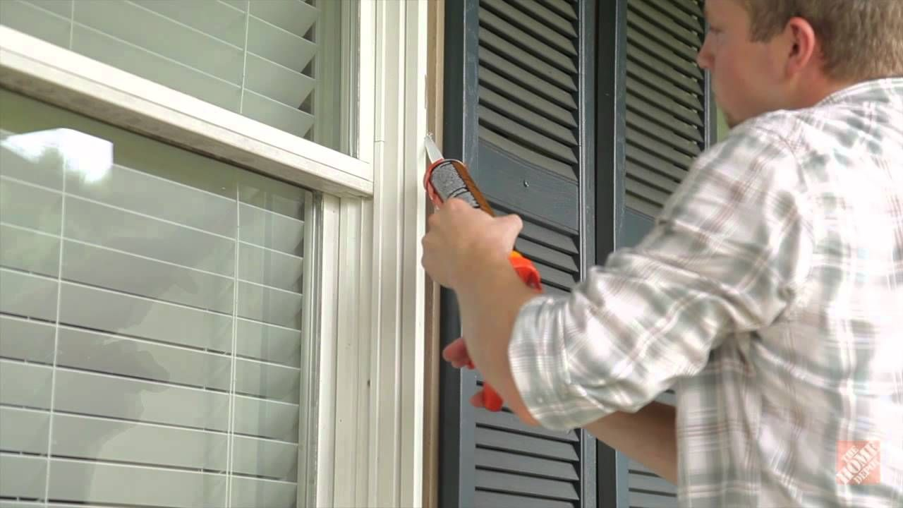 Weatherizing Doors And Windows Step 2 How To Caulk Anything Everything Doors Kitchen Exhaust Fan Cover Home Repairs