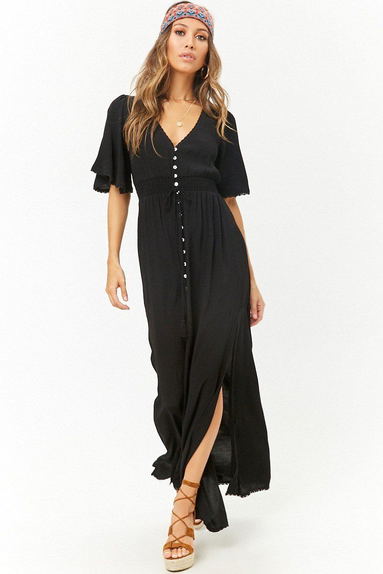 5cfbf24ef15d8 Relaxed Side Slits Maxi Dress | Forever 21 | forever 21| the latest ...