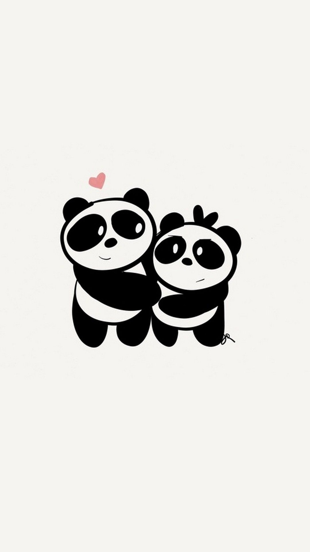 Iphone X Cute Couple Panda Wallpaper Gh Pinterest Panda