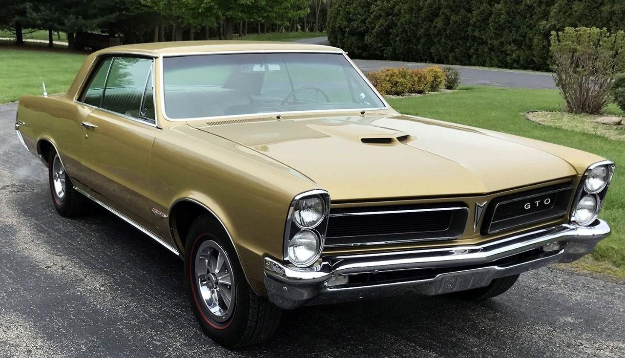 1965 Pontiac Gto 389 In Capri Gold Metallic Muscle Cars Old Muscle Cars 1965 Pontiac Gto