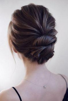 Elegant Updo Low Bun Elegant Updo Low Bun Wedding Hairstyle Weddings Weddingupdos Weddin Updos For Medium Length Hair Medium Length Hair Styles Hair Lengths