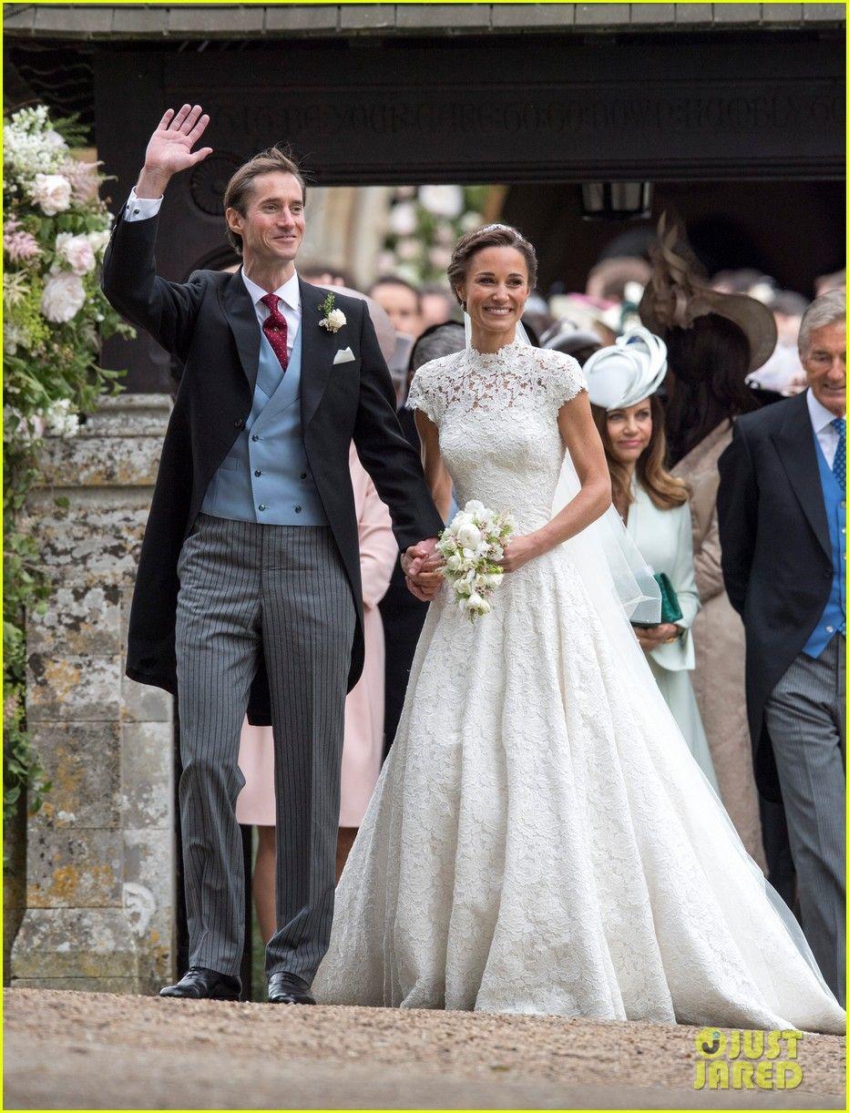 d7791ffaabd00 Pippa Middleton & Husband James Matthews Leave Wedding in Jaguar Convertible