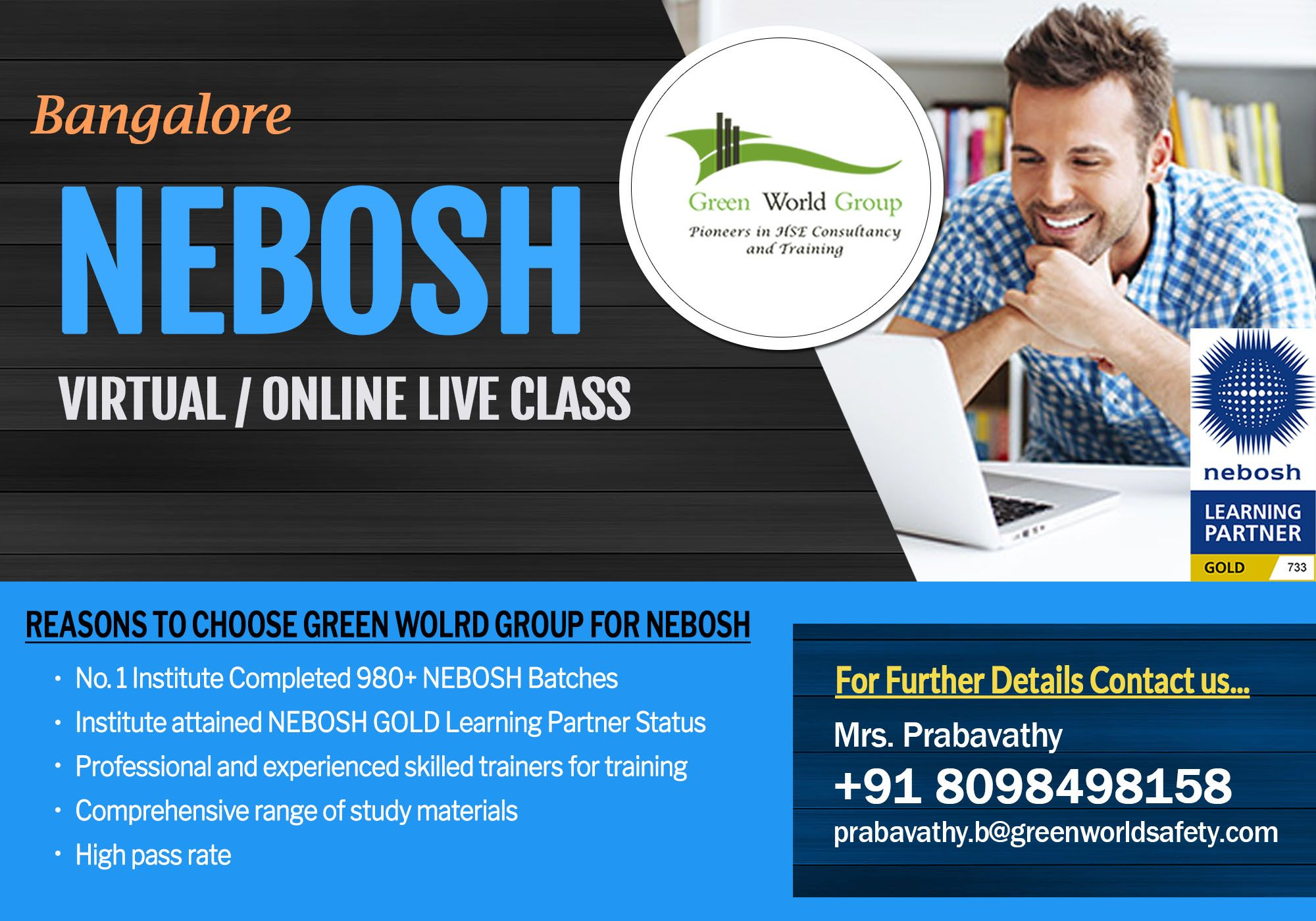 Stay Safe... prepare Nebosh Virtual / Live Online with