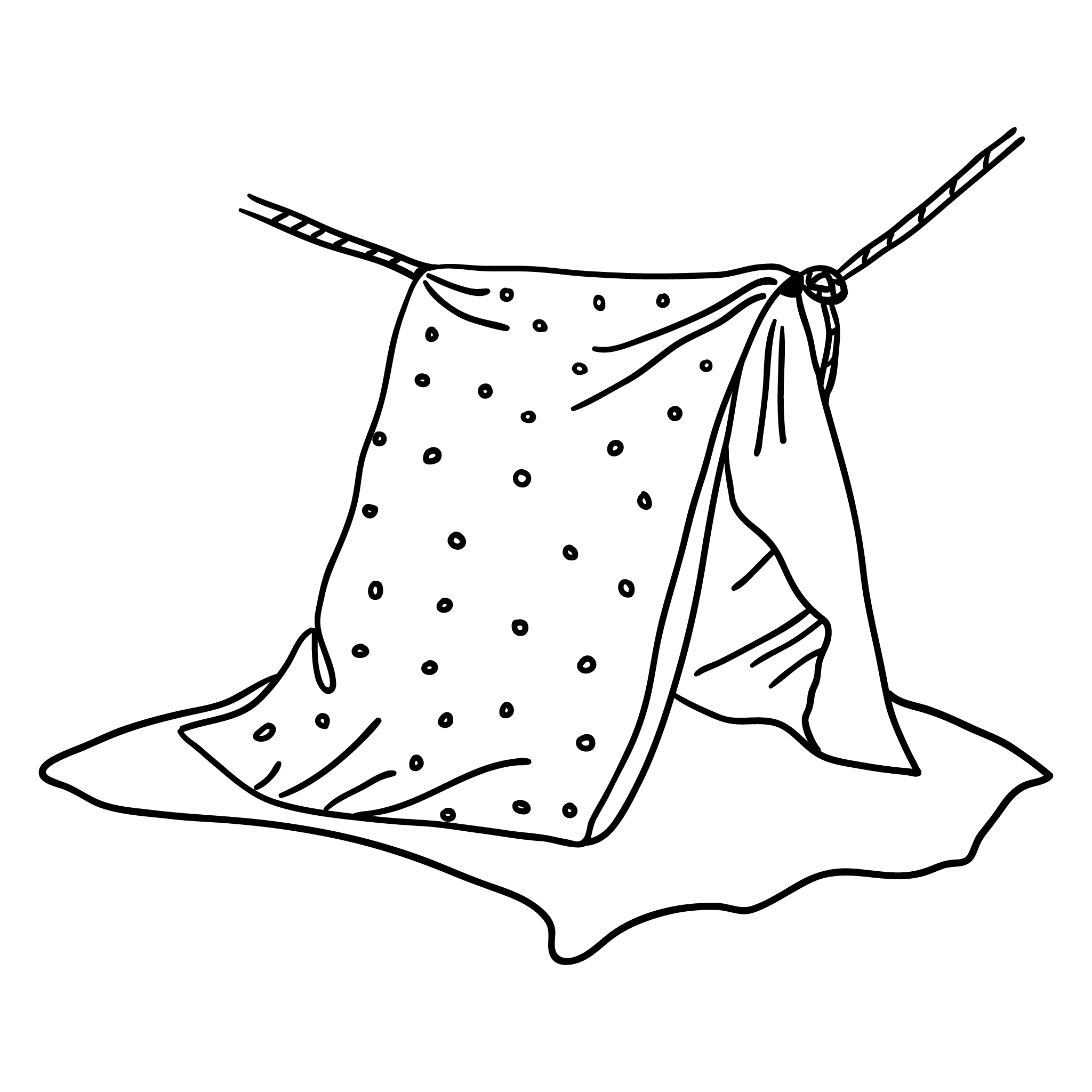 Den making with a sheet and washing line card table ideas