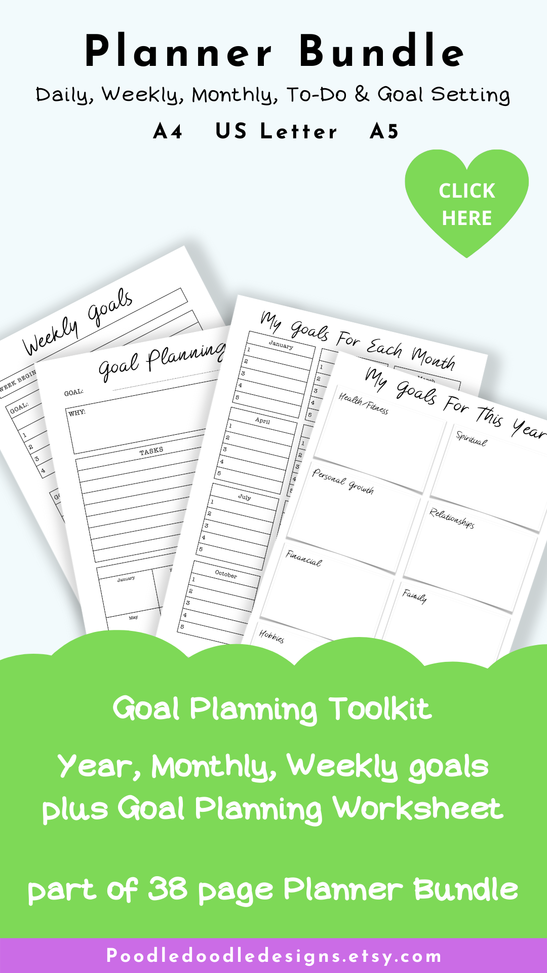 Daily Weekly Monthly To Do Amp Goal Setting Planner