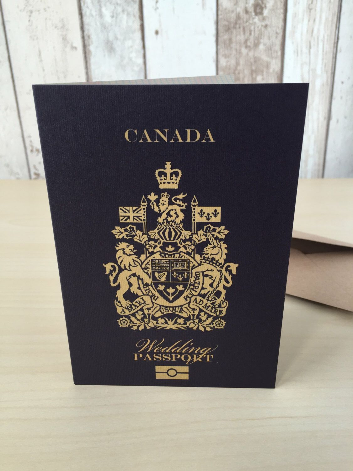 Personalised Passport Wedding Invitations Canadian Canada ...