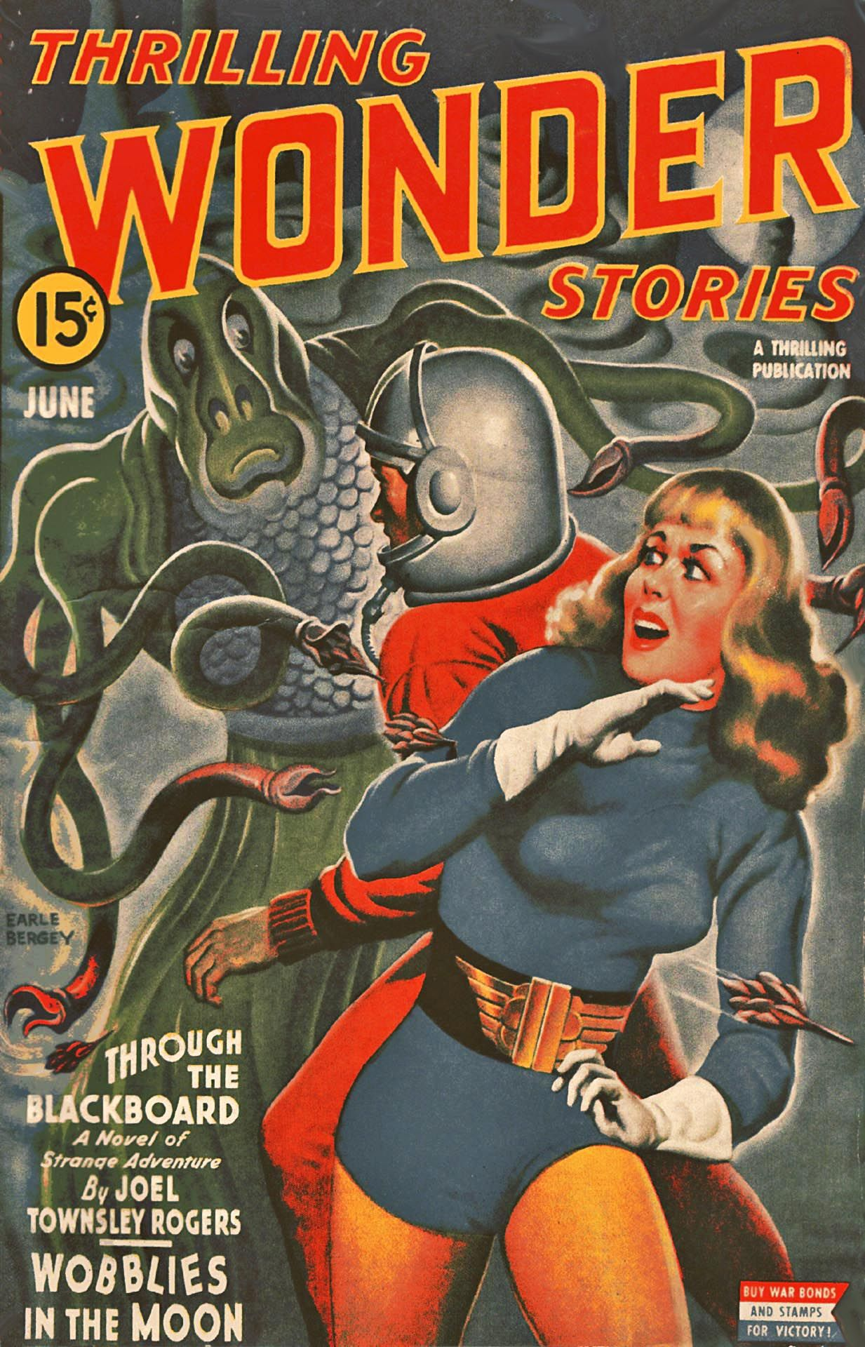 Thrilling Wonder Stories - Cover art by Earle Bergey