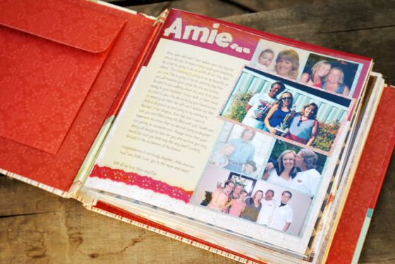 A Gift From The Bridesmaids And MaidMatron Of Honor A Scrapbook