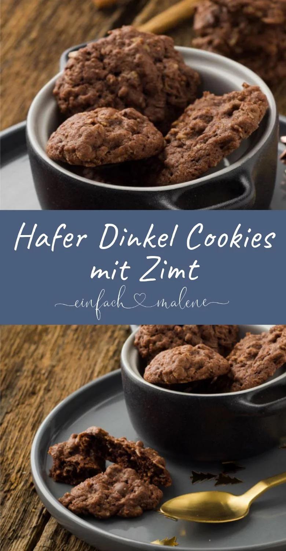 Schoko Zimt Haferflockenkekse mit Dinkelmehl und Karamell Note #cinnamonsugarcookies