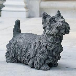 dog room colors dogroomcolors Dog statue, Dog garden