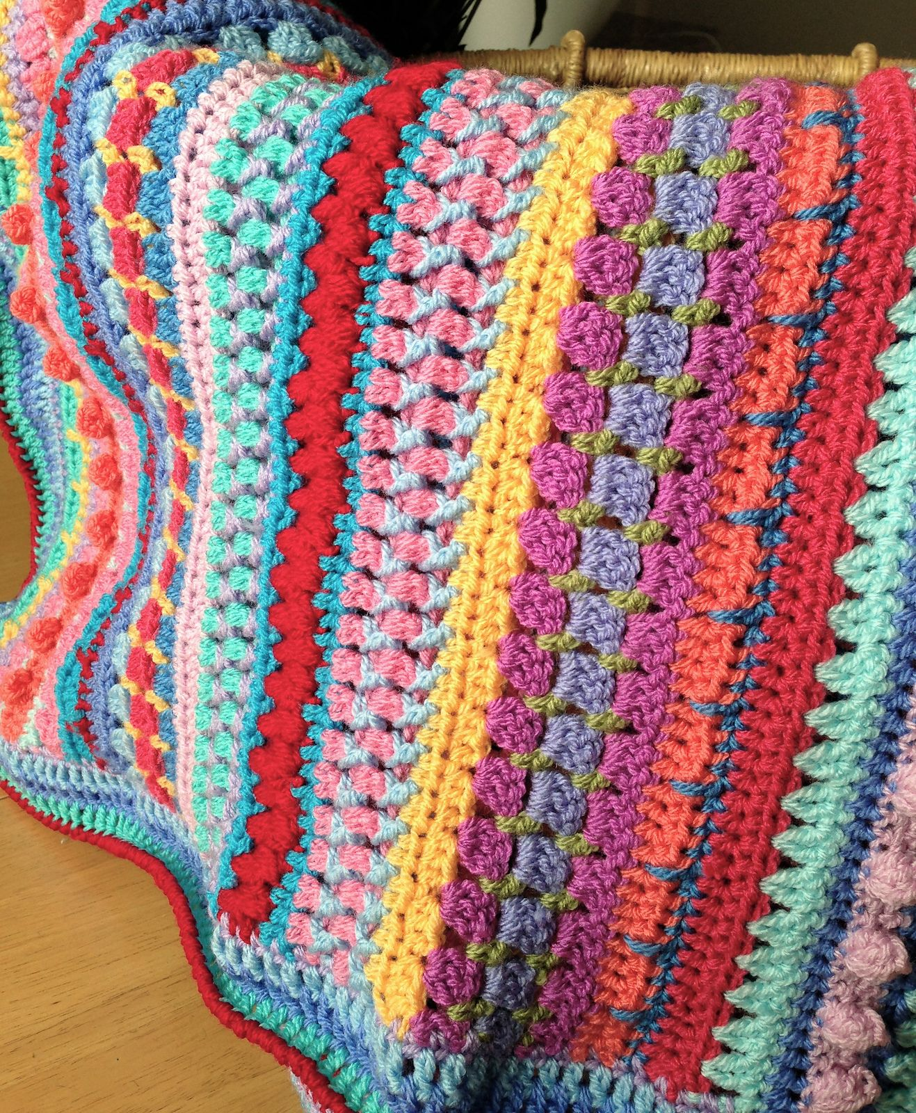 Ravelry: Multi-stitch Striped Blanket by Lynne Samaan | crochet ...