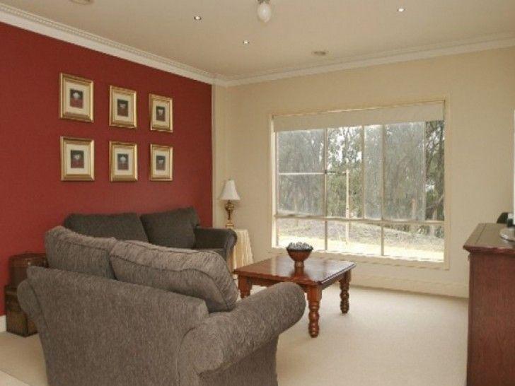 Beige Walls Dark Red Accent Google Search Living Room Color Living Room Colors Accent Walls In Living Room