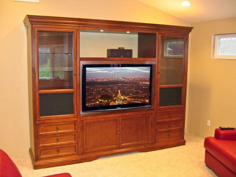 Superior Wall Units And Entertainment Centers | Visalia V 110 Wall Unit Entertainment  Center, Traditional
