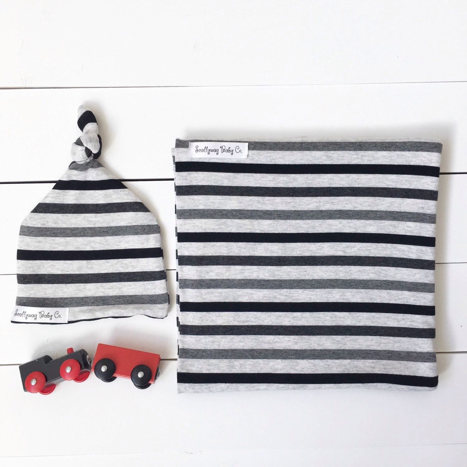 Swaddle Blanket - Grey Stripe Swaddle Wrap - Newborn Swaddle Blanket - Receiving Blanket - Swaddle Wrap - Layette  - Stripe Swaddle Blanket by ScallywagBabyCo on Etsy