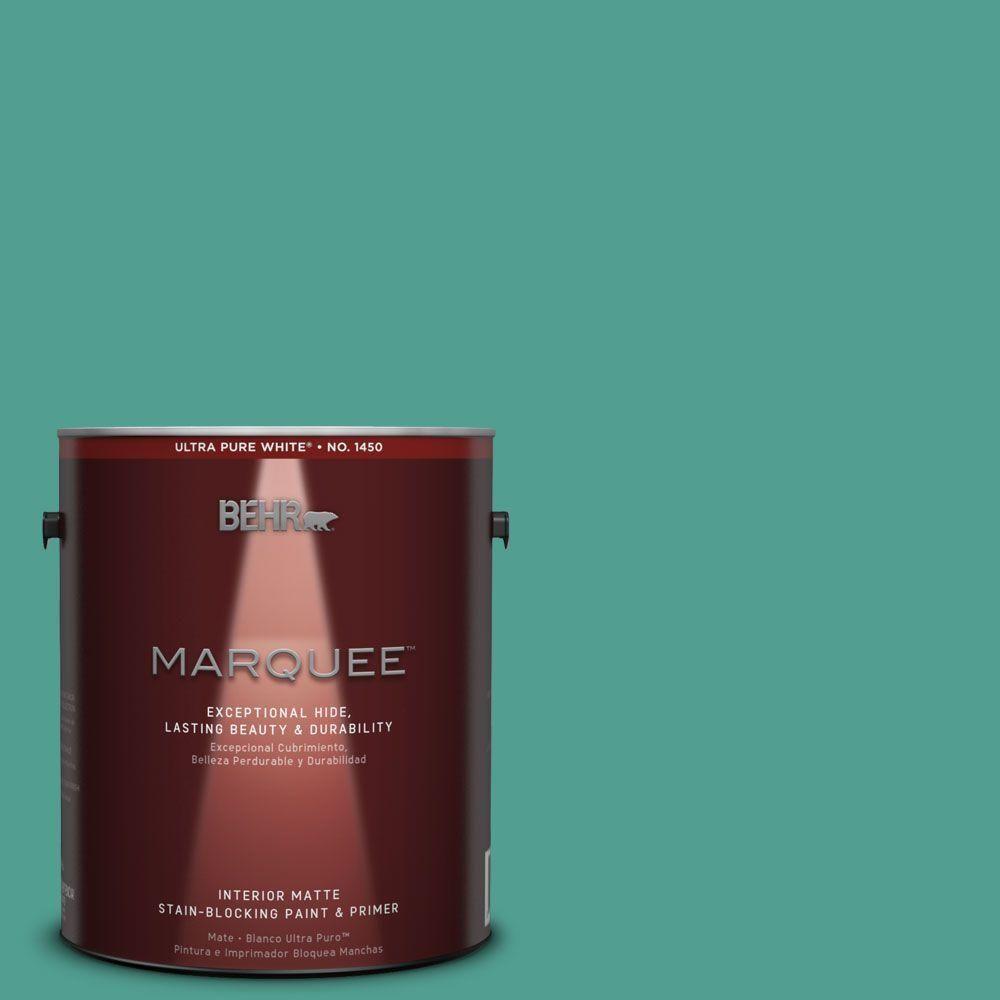 BEHR MARQUEE 1-gal. #hdc-WR15-9 Aqua Revival Matte Interior Paint
