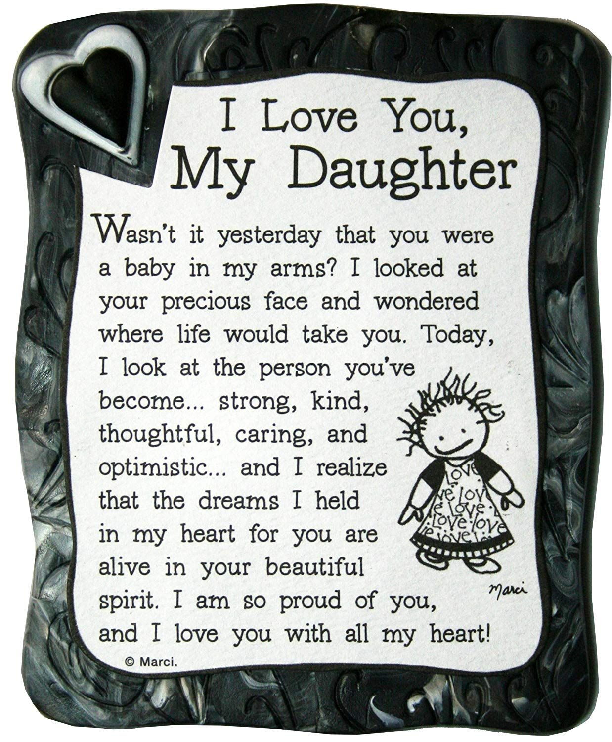 "Amazon.com: Sculpted Magnet: I Love You My Daughter, 7.7"" x 7.7"
