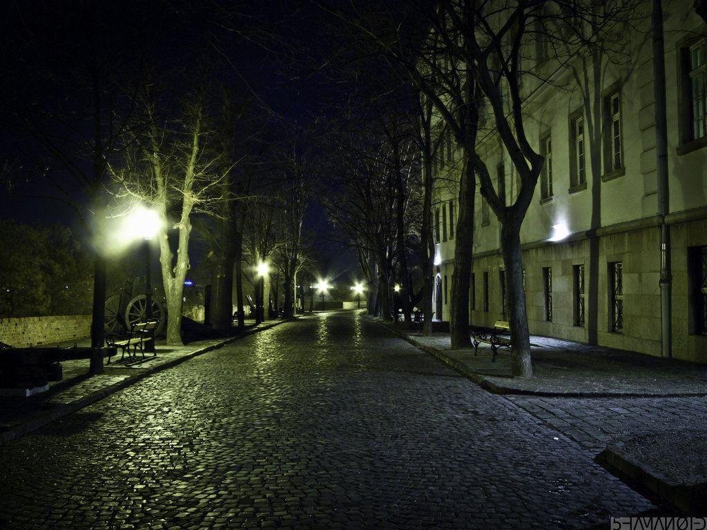 Empty City Street Google Search Night City Urban Landscape London Night