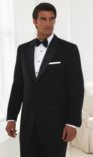 578cb10afafd75 2 Button 100% Wool Tuxedo Package - 14.5 Neck, 32/33 Sleeve Length - Mens  Tuxedos Shop