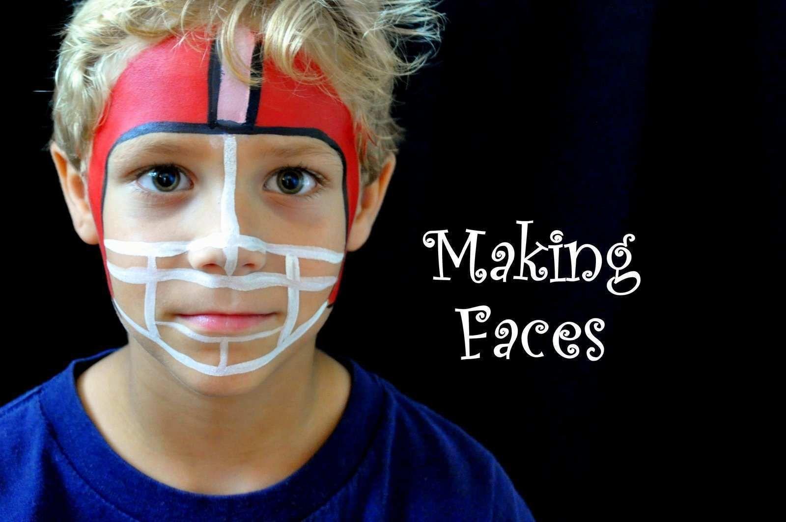 50 Football Face Paint Ideas Painting Football Face Paint Face Painting For Boys School Spirit Face Paint