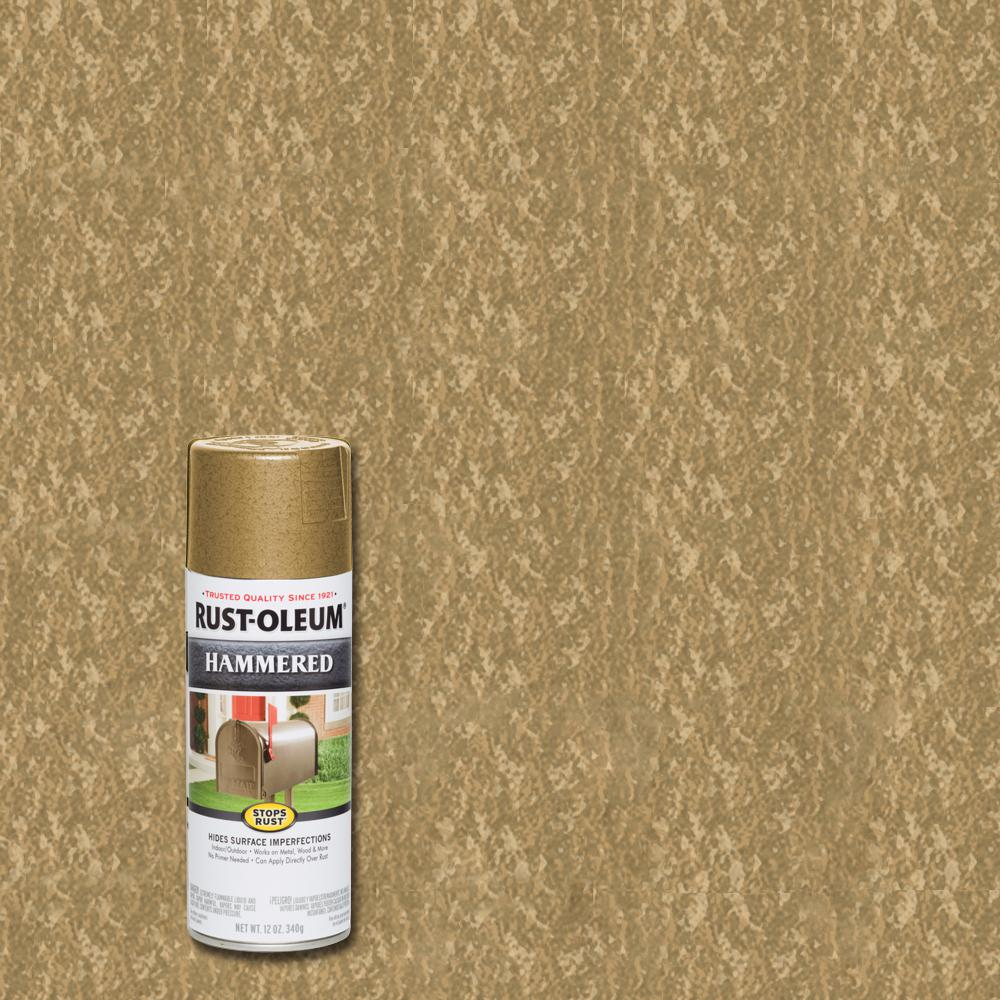 Rust Oleum Stops Rust 12 Oz Hammered Gold Rush Protective Spray Paint 6 Pack 7210830 The Home Depot In 2020 Rustoleum Gold Spray Paint Spray Paint