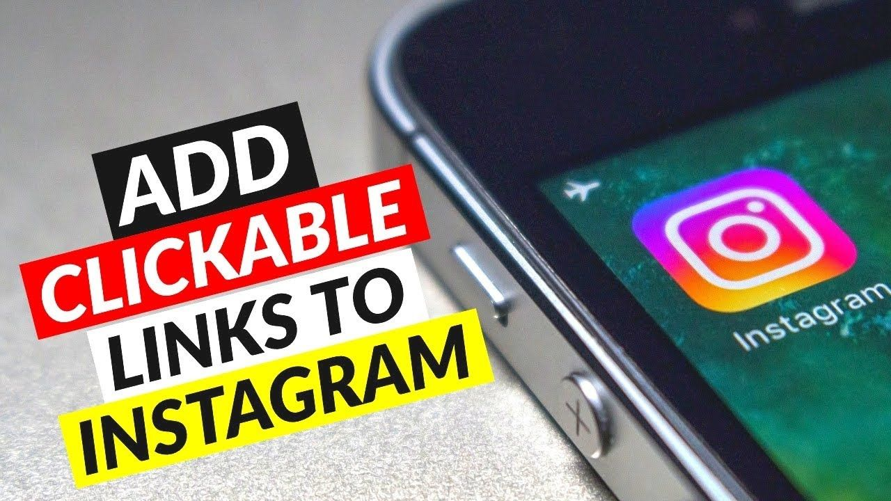How To Add A Clickable Link To Your Instagram Bio How To Put A Link O Instagram Bio Instagram Tutorial Instagram