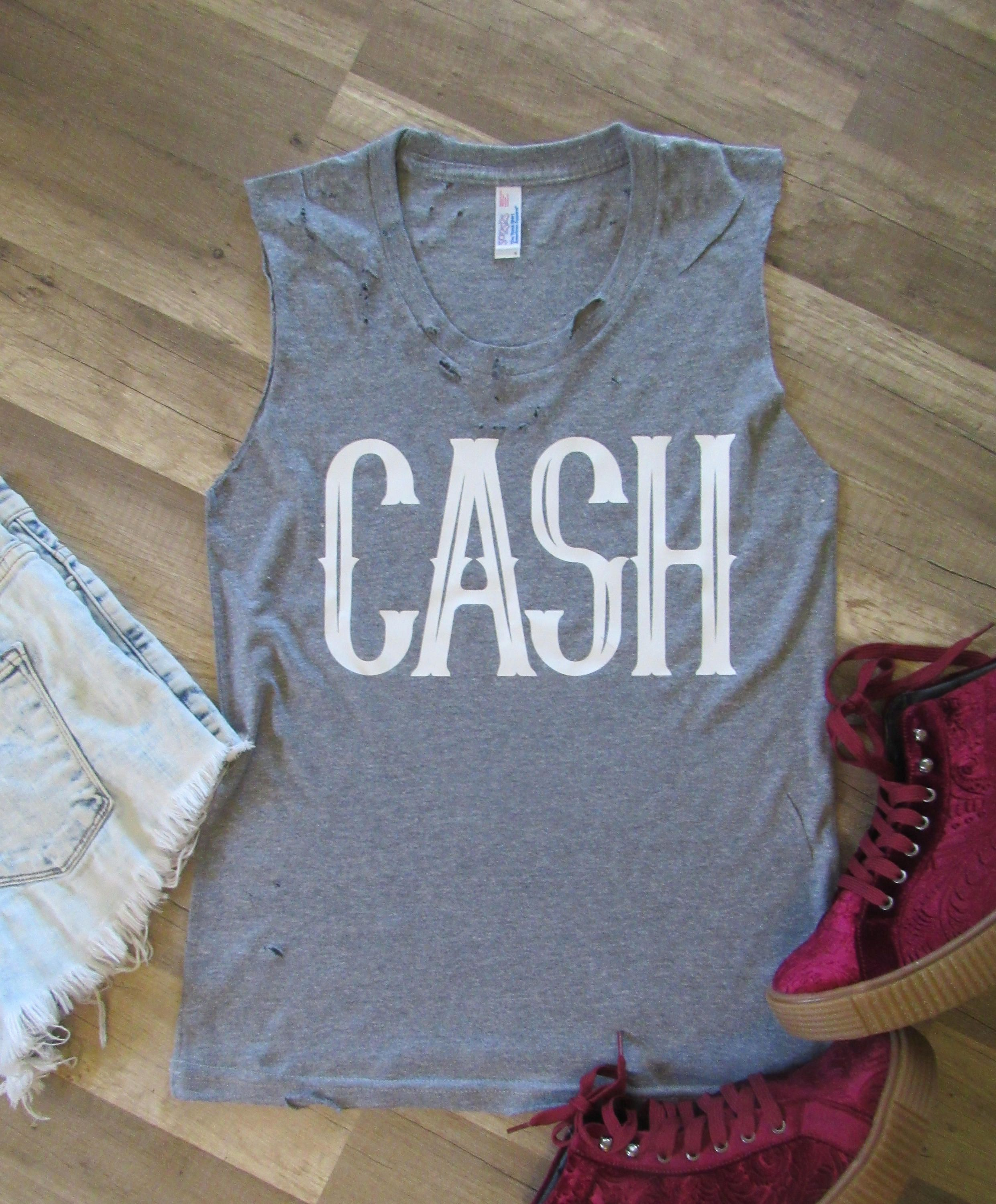 9a9315f1bbe68b CASH  Johnny Cash  Tattered   Torn Vintage muscle tank by dirtroadavenue on  Etsy