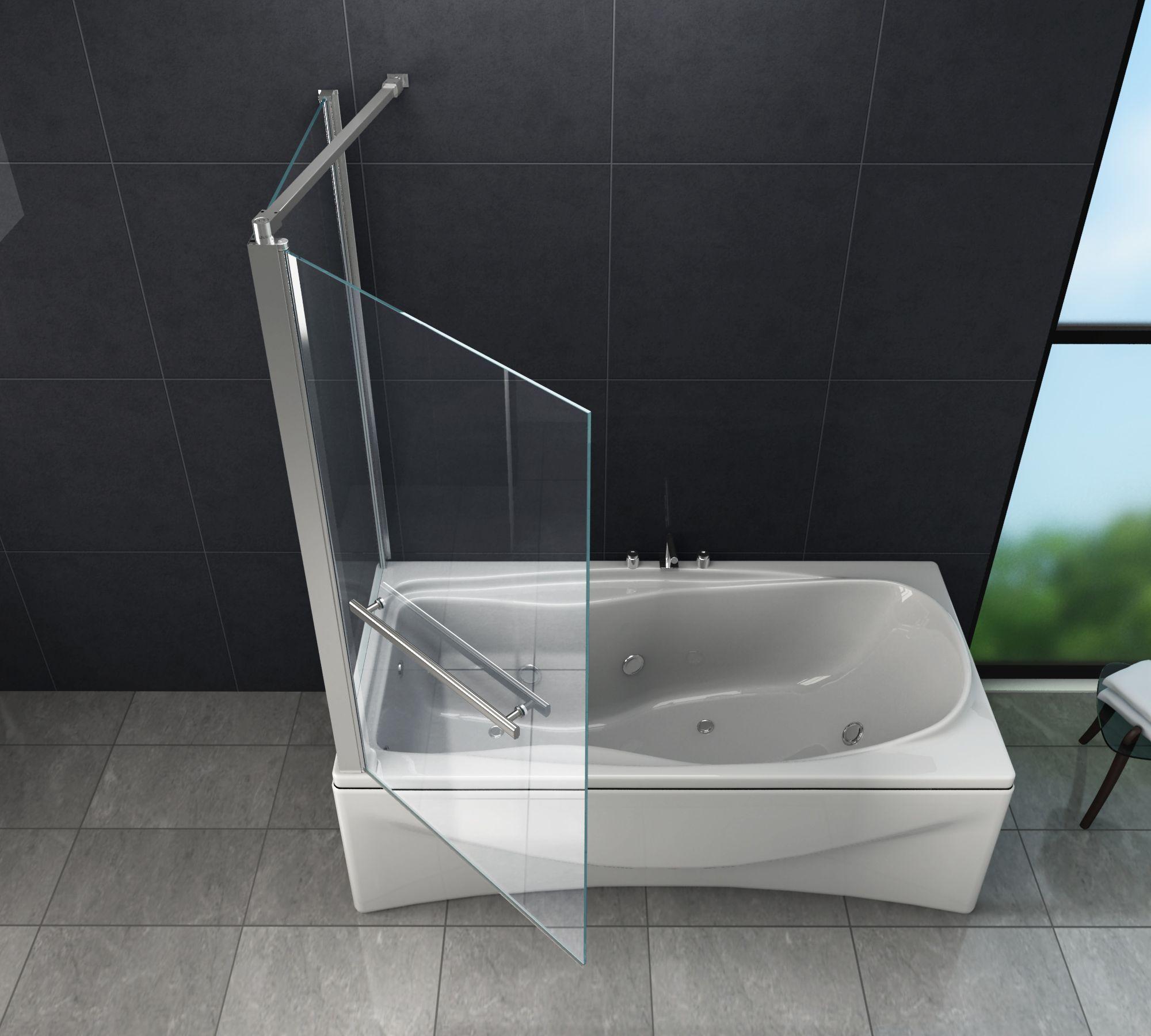 Eck Duschtrennwand Uniono Badewanne
