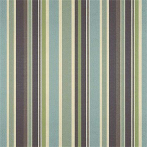 This is a blue and brown stripe outdoor fabric by Sunbrella. This fabric is perfect for any indoor or outdoor use. Suitable for drapery, upholstery, umbrellas, or marine upholstery.v234PADH