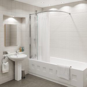 Bath Shower Rail over bath shower curtain rail | http://jsnelson | pinterest