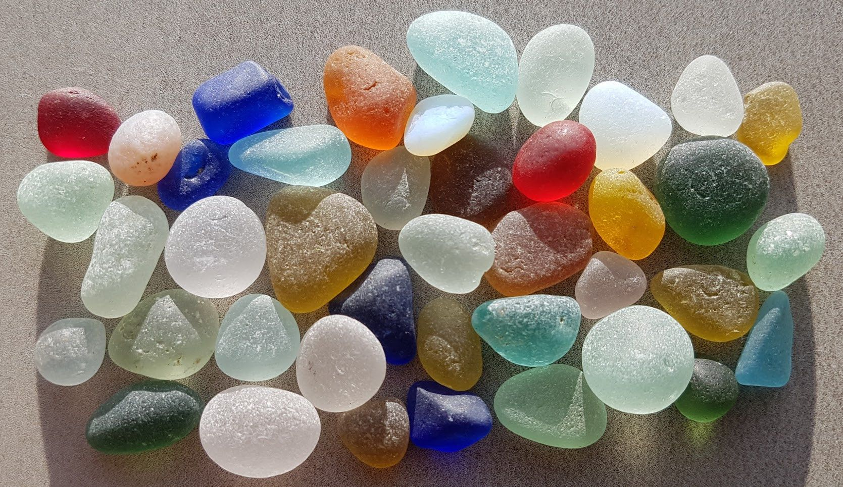 Beautiful sea glass including rarestrare colours by