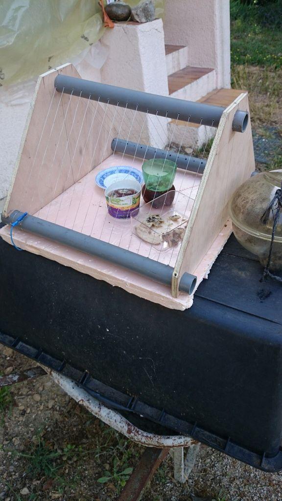 plan d 39 une harpe ou museli re lectrique anti frelon abeilles. Black Bedroom Furniture Sets. Home Design Ideas