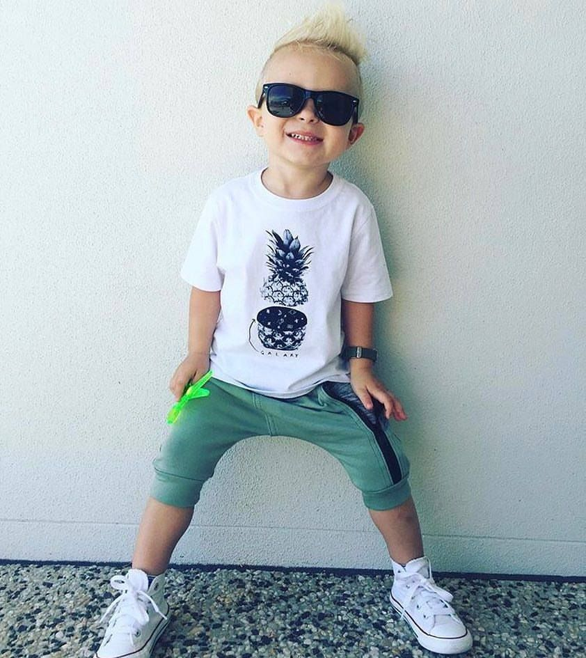 ce3e47e3f48671 Converse Kids ~ Archie rockin  our pineapple galaxy tee   high tops thanks  for the pic  life with archie  (IG) www.tinystyle.com.au  coolkids   boysfashion ...