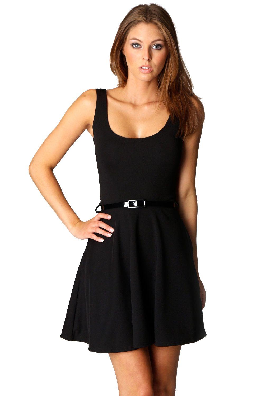 31f72bdb8c Vestido plisado cuello redondo sin mangas-negro 13.80