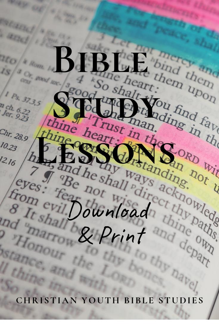 Free Printable Bible Study Lesson