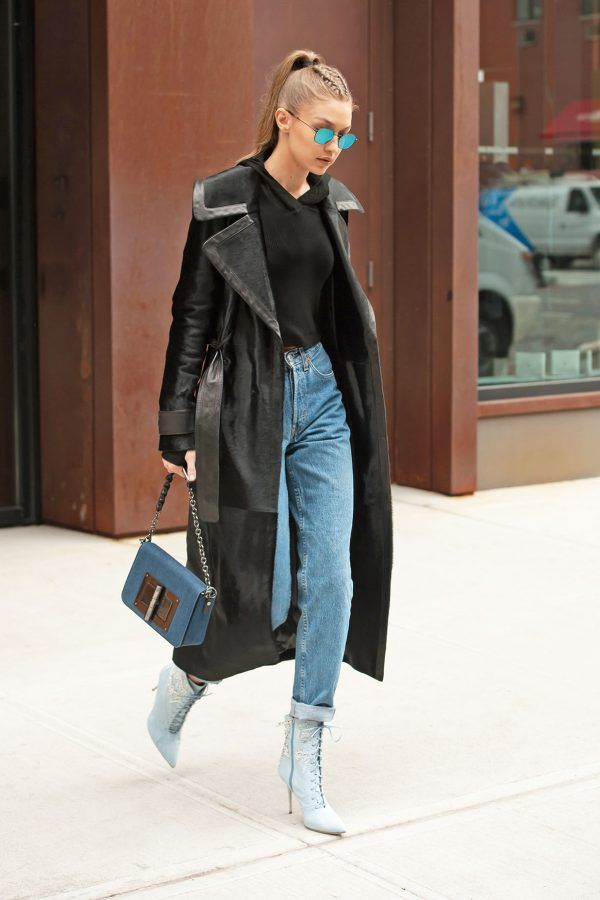 6009605634 Gigi Hadid rocks the straight leg jean look - here s how to cop it.